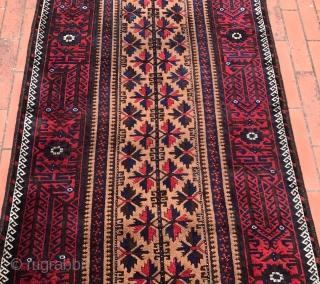 ANTIUQE KHORASAN  baluch camel ground  very good condition  cm 1.87 x 097