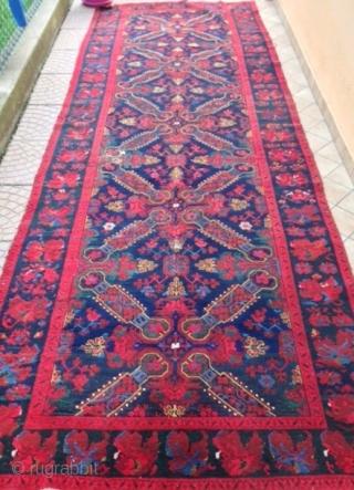antique CAUCASIAN  seichour CUBA  rug  CM 4.00 X 1.40
