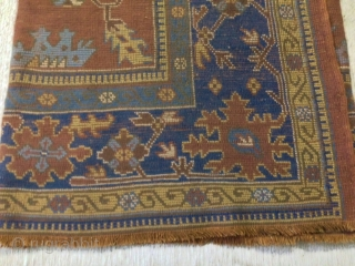 antique anatolian ushak  3.60 x 2.80 circa 1900, good condition