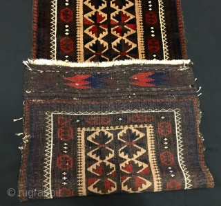 ANTIQUE Baluch Balisht CM 1.00 X 0.42