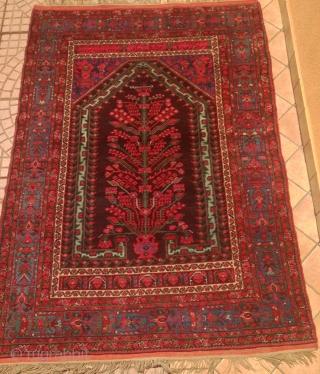Antique anatolian demirci kula   rug.cm 1.67 x 1.16  19th century.circa  good condition