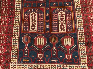 antique caucasian  shirwan  tachte  cm  1.95 x 1.20  1880  circa good  condition