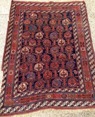 antique persian afshar rug 1.65 x 1.35  1880  circa