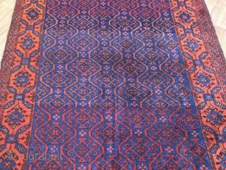 antique baluch Khorassan  rug  cm 1,95 x 1,12 1860/80  circa  good  condition