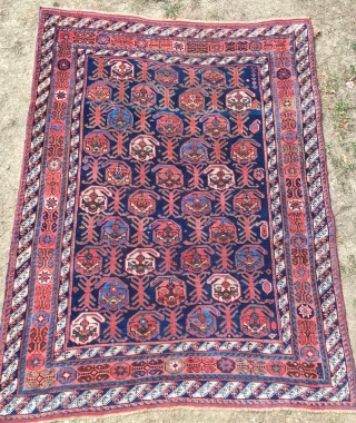 PERSIAN Afshar  ANTIQUE  CM 1.55 X 1.23  1880  CIRCA  GOOD  CONDITION E  NATURAL  COLORS
