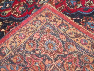Antique Mashad rug