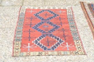 Antique 19th century Kazak rug