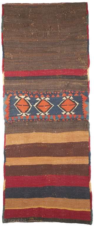 "This was one highlight of our 25 Years Jubilee Exhibition ""Persian Nomadic Textile Art 1992 - 2017"": # 1113 Shahsavan Chanteh Khorjin, 33/85 cm, Northwest Persia, late 19th century, incredible fine kilim  ..."