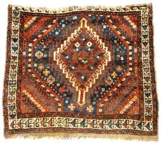 # 822 Arabi khorjin front, 77/63 cm, Southwest Persia, late 19th century, good condition, soft and silky wool, beautiful natural colour palette.  For more offers of wonderful collector's pieces please visit our  ...