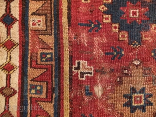 Megri, mid 19th.c., 170x130cm, lot of old repairs, wonderful border
