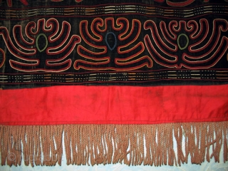 Antique Kirghiz nomads tent decoration, Central Asia, silk embroidered on velvet, circa 1900. Size is 38x33 inches.