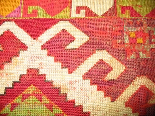 Uzbek nomads Lakai fragment, cross stitched silk embroidery, size is 12x12 inches.
