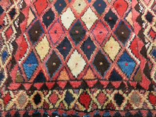 Baktiari Gabeeh full pile rug with undyed natural wool and camel hair mixed. Circa 1920-30s Tip fading on one shade of red, some natural and unnatural dyes. A real tribal rug made  ...