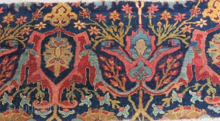 "Bidjar antique Main rug fragment, amazing survival form an area rug. still has pile and great condition. Circa : antique - size : 79 "" X 24"" // 200 cm X 61  ..."