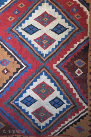 "Qashkai kilim.. with few small old repairs.. Size: 88"" X 58"" - 225 cm X 148 cm"