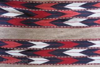 "Goklan Turkmen pair of vanity/clothing kilim woven bag, original condition. circa early Twenty cent. size: 66 cm X 95 cm - 70 cm X 95 cm --37"" X 26"" - 37"" X  ..."