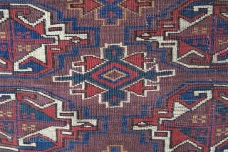 "Turkmen yomud chuval good pile and all good colors.. asymmetrical open to right  size: 50"" X 29"" - 126 cm X 74 cm"