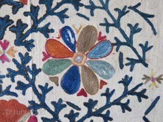 "Uzbekistan lakai Shahrisabz antique suzani. size: 85"" X 63""  - 215 cm X 160 cm"