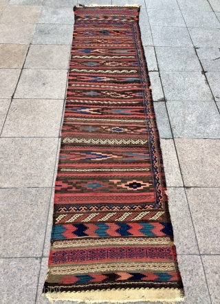 Baluch single panel kilim size 350x70cm