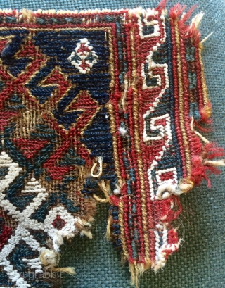 Persian very old fragmand bag about 200 years size 27x23cm