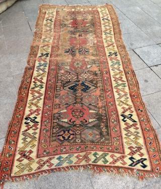 Persian Kurdish rug size 300x135cm