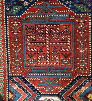 "Shahsavan long rug 9'2""x3'2"". good condition with some wear. original selvedge."