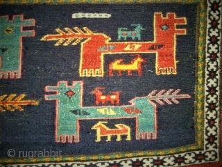 antique North-West Persian Cicim Flatweave. Size: 46 x 85 cm. Very nice Mafrash Paneel.