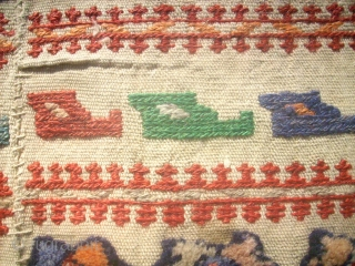 Very old kurdish horse cover. Size: 80 x 116 cm. Good condition.