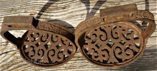 Antique persian / Turkoman  stirrup. Pure metal.