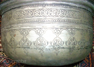Old Bowl from Persia / Afghanistan. Size: in diamter: 22,5 cm. High: 9,5 cm. Good condition.