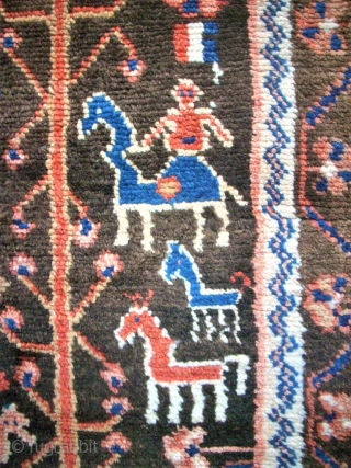 Old kurdish? tribal rug. Size: 129 x 182 cm. Very interesting ornamentic. Very good condition. Tree and animals.