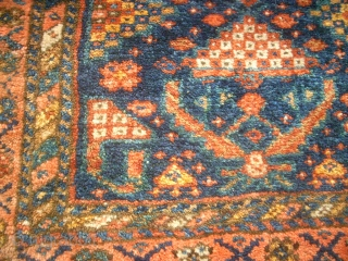 Pair of antique persian bags. Size: 51 x 53 cm and 49 x 54 cm. Very good condition. Perfect colors.