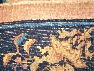 lovely Chinese Peking rug. Size: 190 x 256 cm. Need some wash. Used.