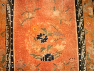 antique chinese small rug. Size: 59 x 99 cm. Fine knotting.