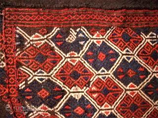 Anatolian Bergama Region big Cicim bag. Size: 76 x 81 cm. Good condition.