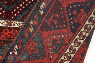 antique east anatolian or yoruk rug with thick high pile. Classic design with good saturated colors. Clean and very close to original condition with just a few small spots that could use  ...