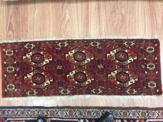 A exquisite Torba conceived by womens of the Tekke Turkoman,Who produced the finest and most imaginative rugs of the west Turkestan knotting area.