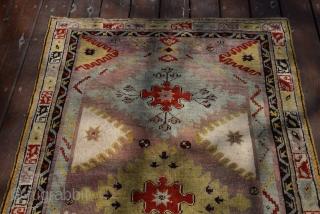 Circa 1880 years- Interesthing Mucur Carpet - size 170x110 cm