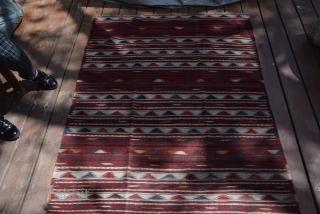 Süper fine Turkoman Palas Kilim . Size 275x124 cm.