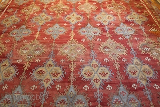 Antique Sivas Sarkısla Kilim. Central is Turkey, pure wool.Real kilim for the size and quality.12'4''x10'ft