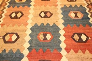 Tajik Kilim. Pure wool. 90 years old.340x160 cm