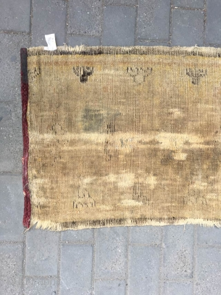8579# Ningxia running temple fragment, cotton warp hemp weft,It was produced about Ming Dynasty, light camel backgrouns with lucky clouds veins, good age . 155x88cm(60x34'').