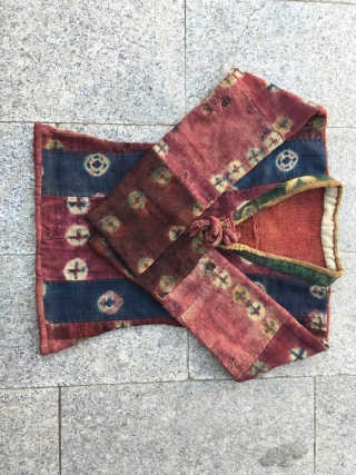 zhz-888f, Tibet felt frock. Women lama wear,red and blue color with ball flower pattern. Tibetan Buddhist monks costumes to the red system,The characteristics of Tibet Plateau. size(45x135xH90cm)(17x53x35'')