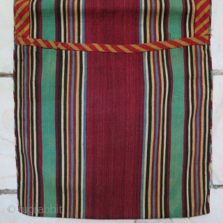 Silk Shahsavan Jajim Heybeh Age: 80 years Size:59 x 25