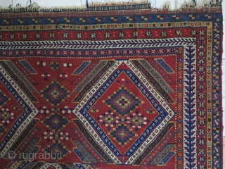 Beautiful Antique Qhashqhai Gabbeh Wool and Wool Age:about 130 years Natural Color 210 x 180 Good Condition Price Ask about this .