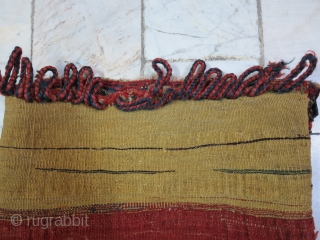 A Saveh Shahsavan TOubreh Sumac Wool on Wool Age about 100 years Natural Color .Size : 35 x 38