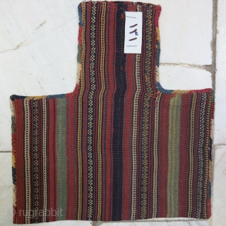 Shahsavan Salt bag Jajim natural color age: about 120 years size:27 x 25 price: POR