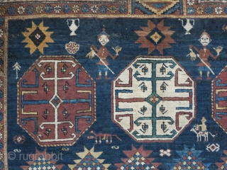 Shirvan Rug with great design Age about 100 years size.185x141 SOLD