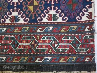 Shahsavan Mafrash panel Soumac natural color age:100 years good condition size:49 x 110 it was repair price:POR