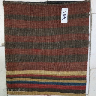 Miyaneh Shahsavan Toubreh technique kilim and soumac wool on wool natural color size 33 x 30 price:POR